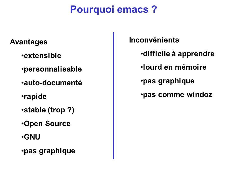 Pourquoi emacs .