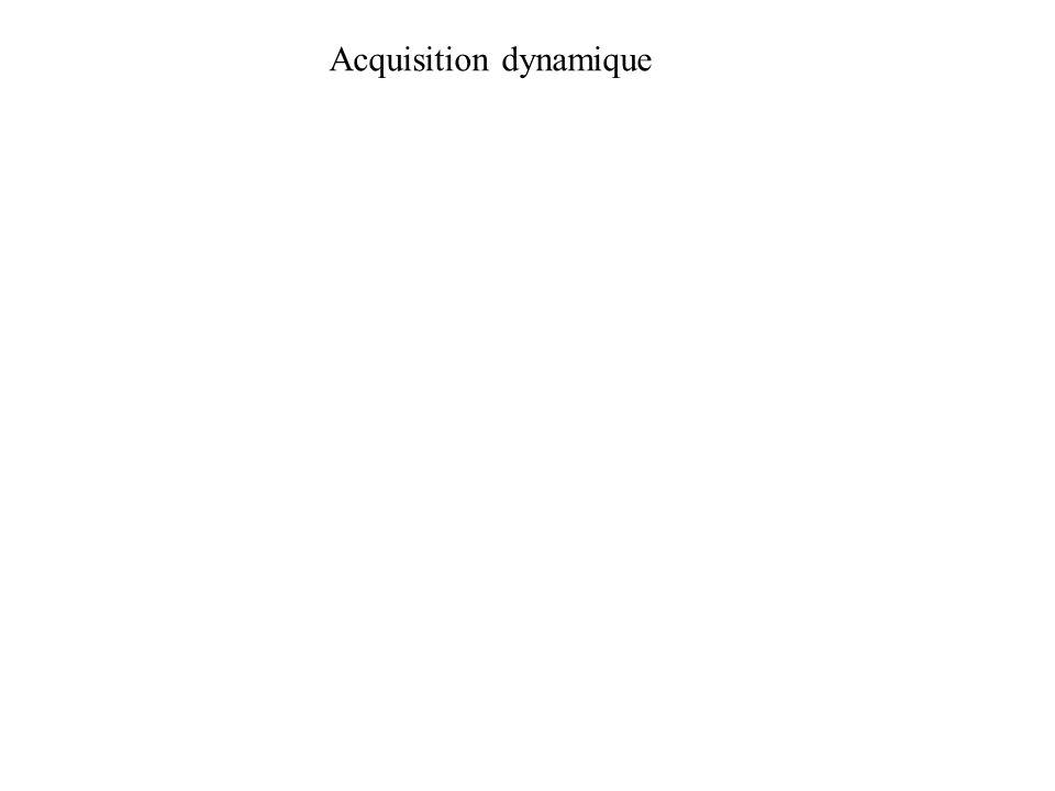 Acquisition dynamique