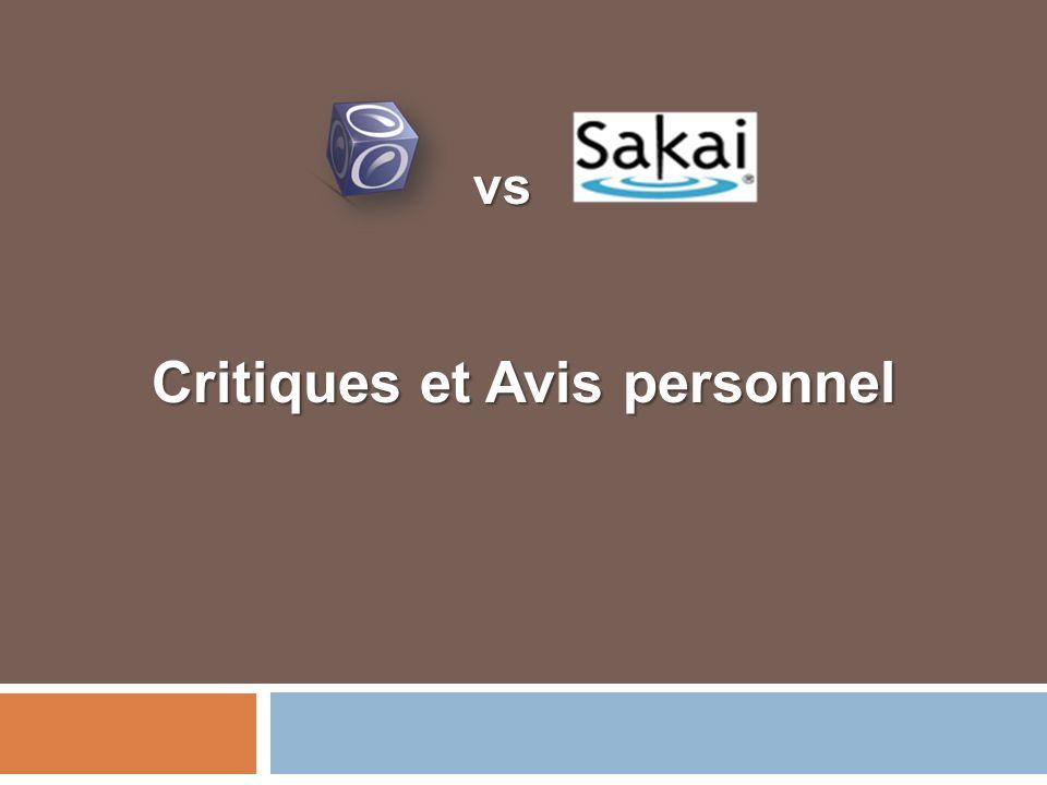 Critiques et Avis personnel vs