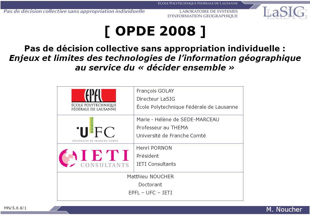 Pas de décision collective sans appropriation individuelle MN/5.6.8/1 M. Noucher [ OPDE 2008 ] Pas de décision collective sans appropriation individue