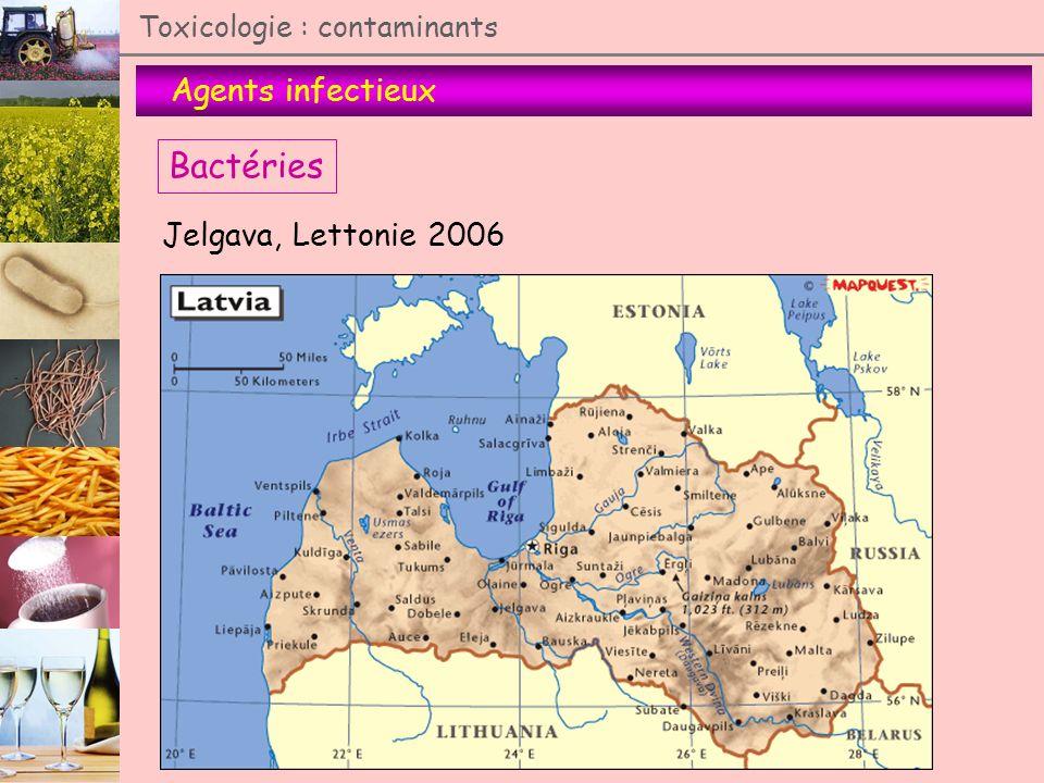 Agents infectieux Toxicologie : contaminants Bactéries Jelgava, Lettonie 2006