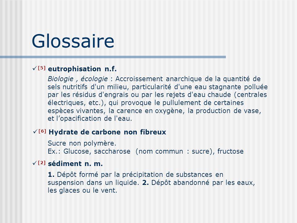 Glossaire 1. Dépôt formé par la précipitation de substances en suspension dans un liquide. 2. Dépôt abandonné par les eaux, les glaces ou le vent. [2]