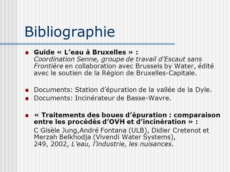 Bibliographie Guide « Leau à Bruxelles » : Coordination Senne, groupe de travail dEscaut sans Frontière en collaboration avec Brussels by Water, édité