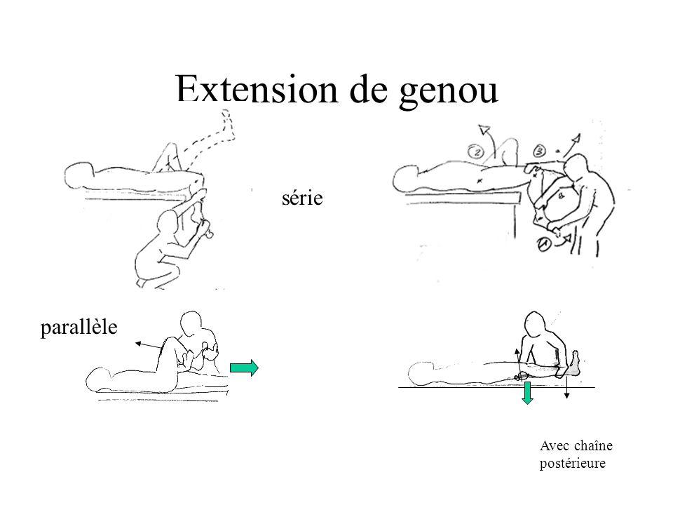 Extension de genou parallèle série Avec chaîne postérieure