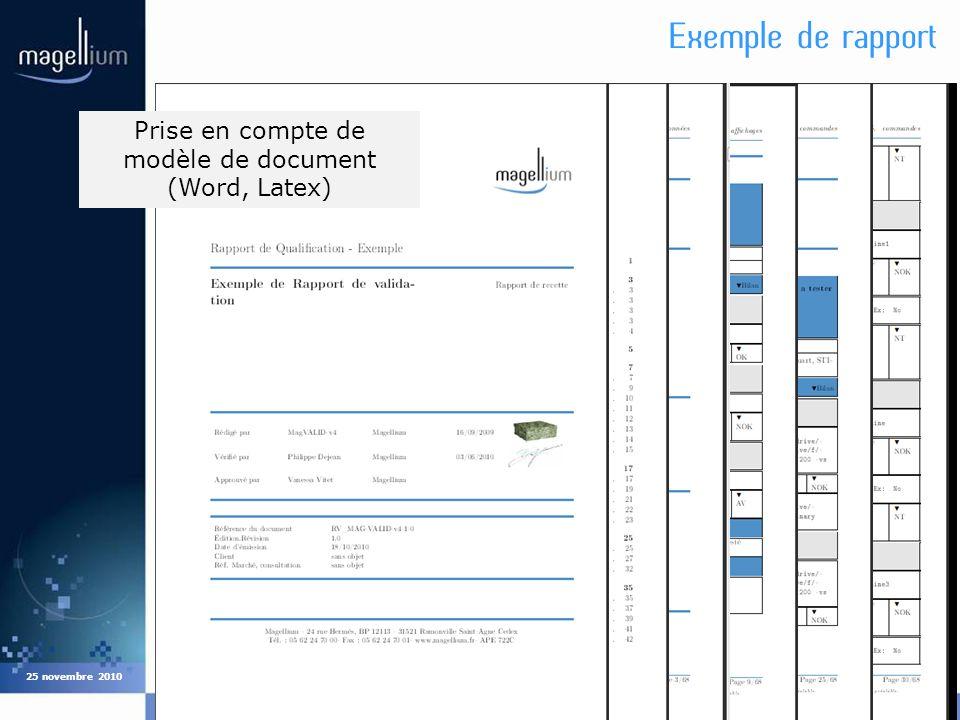 Cliquez pour modifier les styles du texte du masque Deuxième niveau Troisième niveau Quatrième niveau Cinquième niveau Exemple de rapport COMPIL12 25