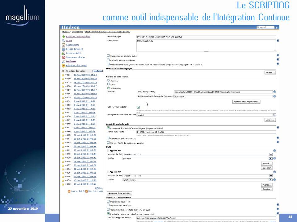 Cliquez pour modifier les styles du texte du masque Deuxième niveau Troisième niveau Quatrième niveau Cinquième niveau COMPIL18 25 novembre 2010 Le SC