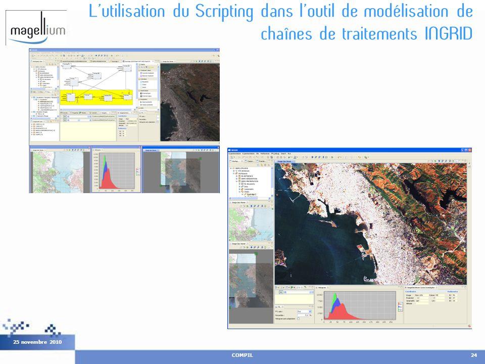Lutilisation du Scripting dans loutil de modélisation de chaînes de traitements INGRID COMPIL24 25 novembre 2010