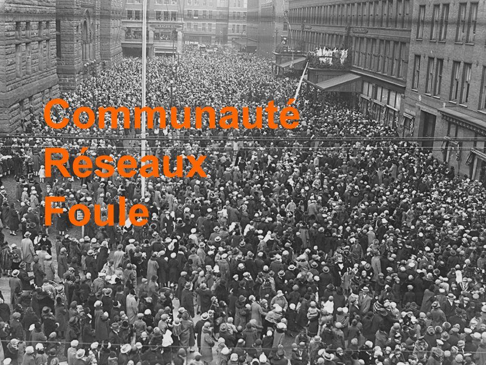 Anthropologie des espaces numériques // 1 er Semestre 2007 / 2008 Communauté Réseaux Foule