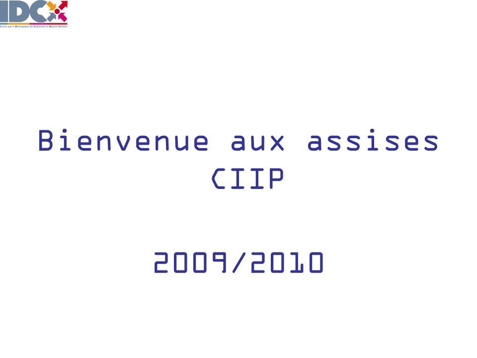 Bienvenue aux assises CIIP 2009/2010