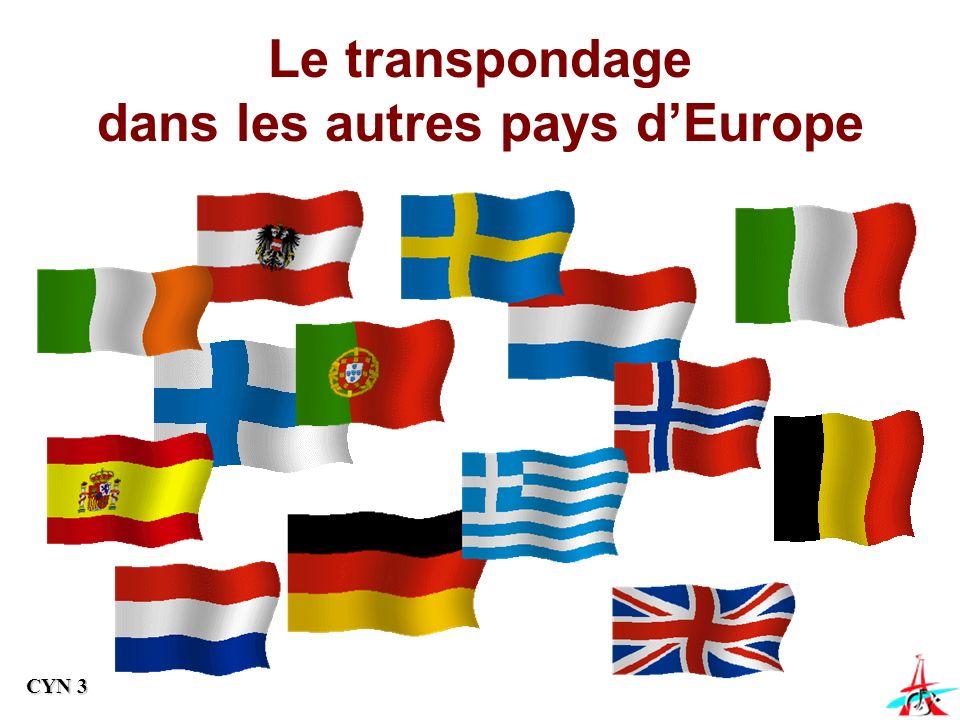Le transpondage dans les autres pays dEurope CYN 3