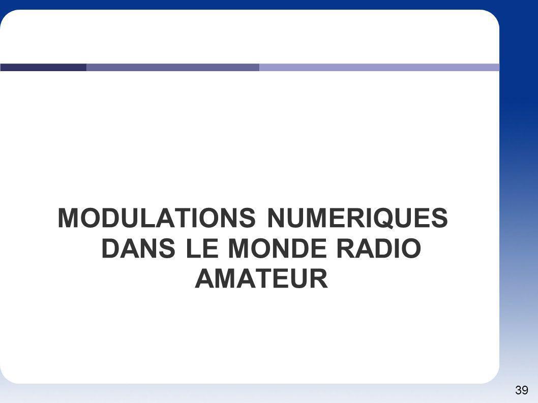 39 MODULATIONS NUMERIQUES DANS LE MONDE RADIO AMATEUR