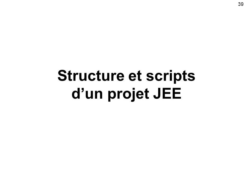 39 Structure et scripts dun projet JEE