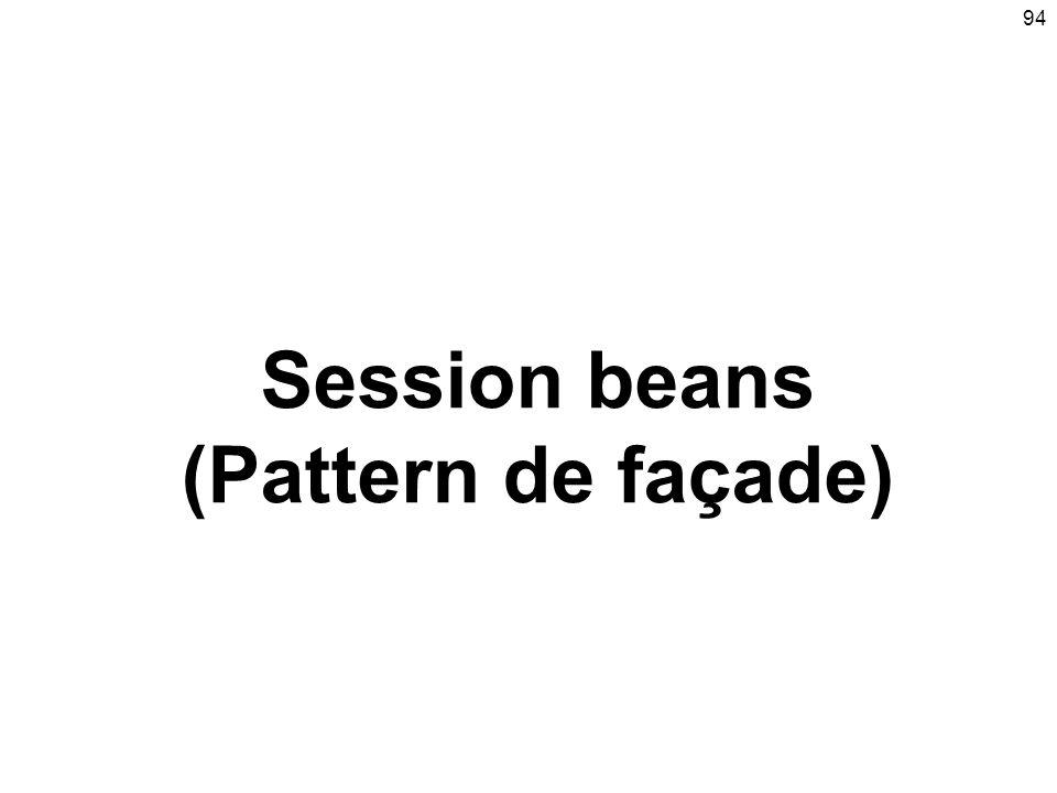94 Session beans (Pattern de façade)