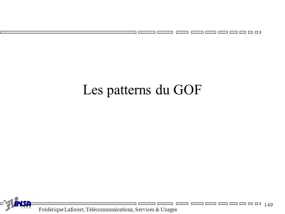 Frédérique Laforest, Télécommunications, Services & Usages 149 Les patterns du GOF