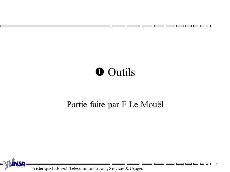 Frédérique Laforest, Télécommunications, Services & Usages 4 Outils Partie faite par F Le Mouël