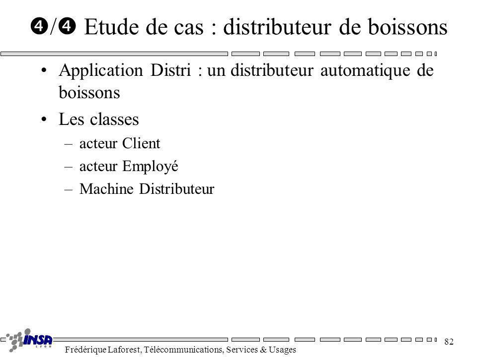 Frédérique Laforest, Télécommunications, Services & Usages 82 / Etude de cas : distributeur de boissons Application Distri : un distributeur automatiq