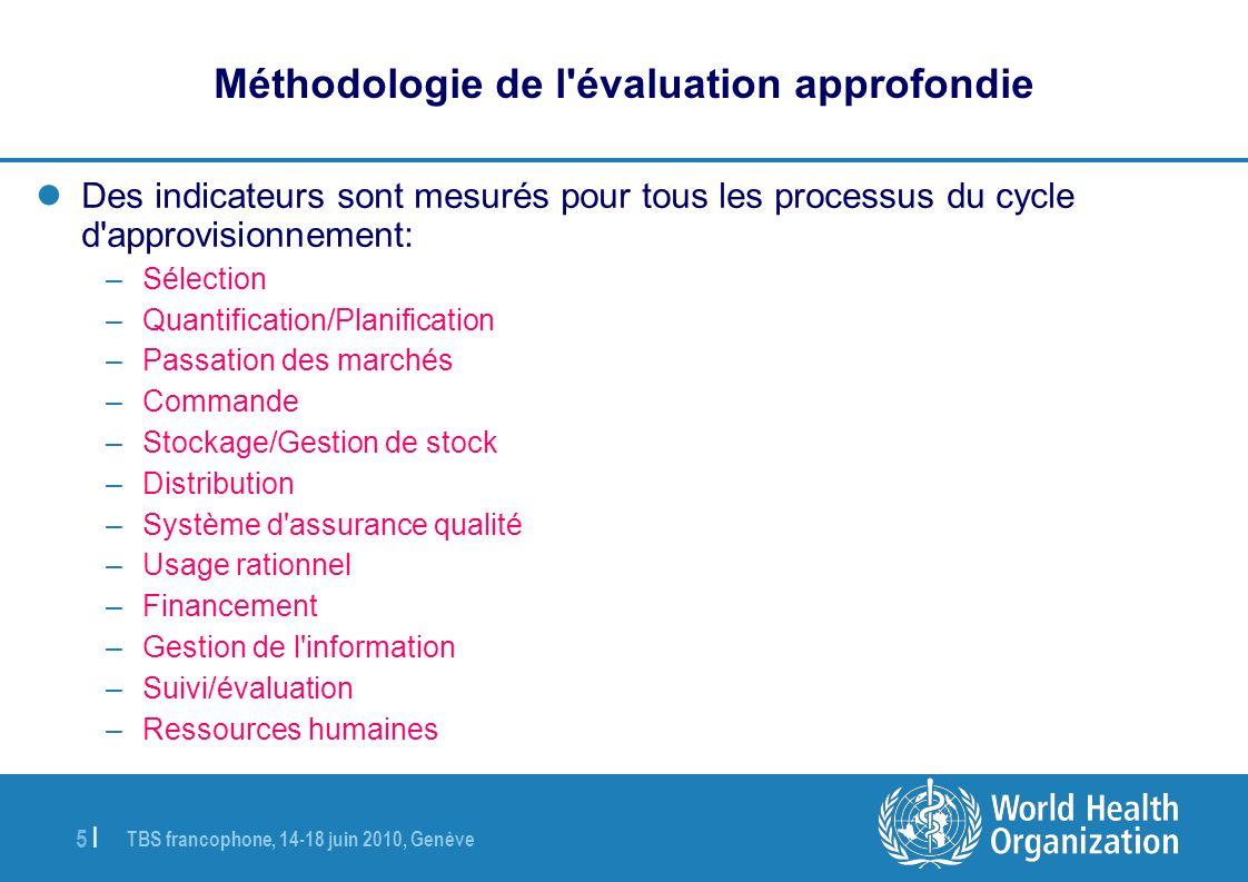 TBS francophone, 14-18 juin 2010, Genève 16   Résultats des études (4) Les défis (3) Gestion de stock : –La gestion de stock est souvent différenciée en fonction des sources de financement augmentant la charge de travail du personnel et la complexité de la gestion des stocks.