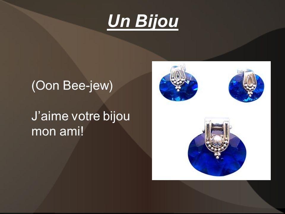Un Bijou (Oon Bee-jew) Jaime votre bijou mon ami!