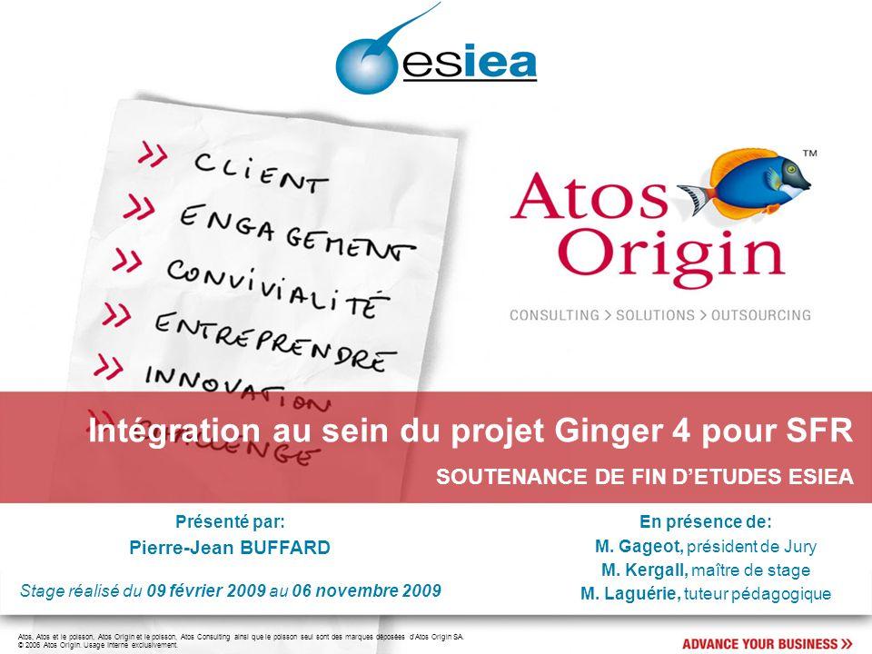 12 Pierre-Jean BUFFARD Intégration au sein du projet Ginger 4 pour SFR Le projet Ginger 4: Le déroulement du projet