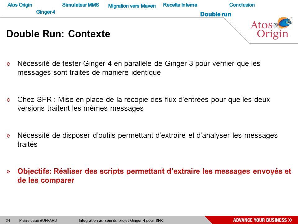 34 Pierre-Jean BUFFARD Intégration au sein du projet Ginger 4 pour SFR Double Run: Contexte