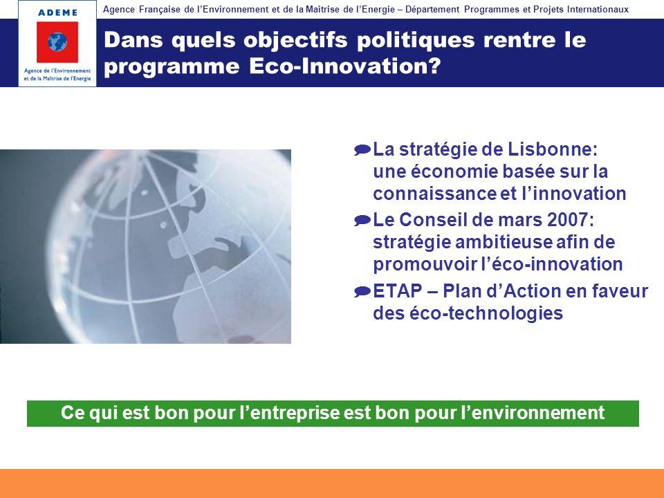 Agence Française de lEnvironnement et de la Maîtrise de lEnergie – Département Programmes et Projets Internationaux Fil dariane Dans quels objectifs p