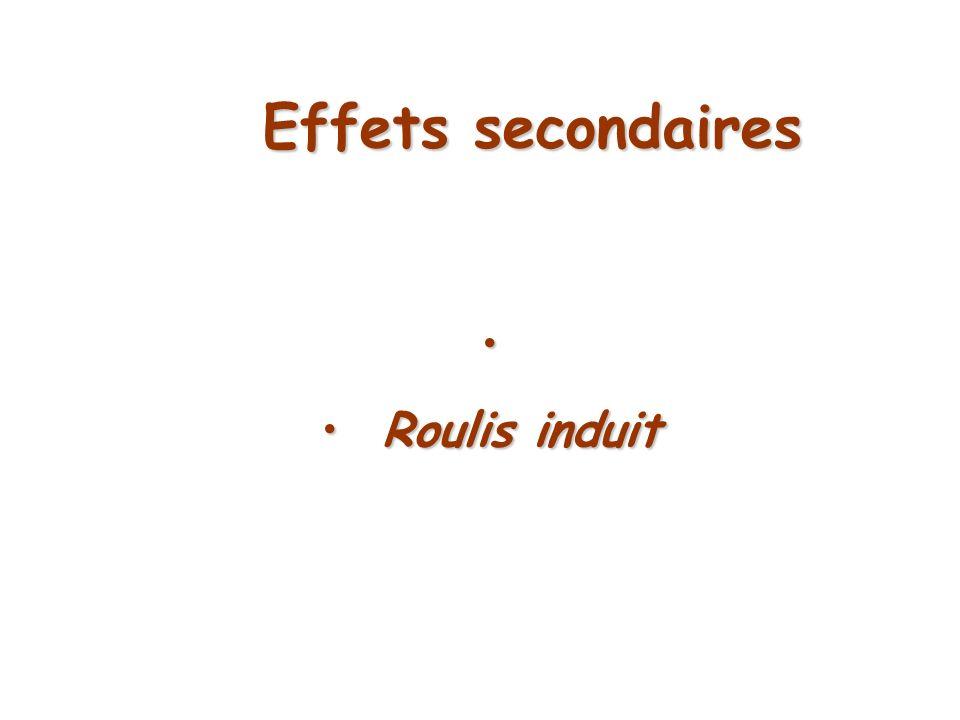 Effets secondaires Roulis induit Roulis induit