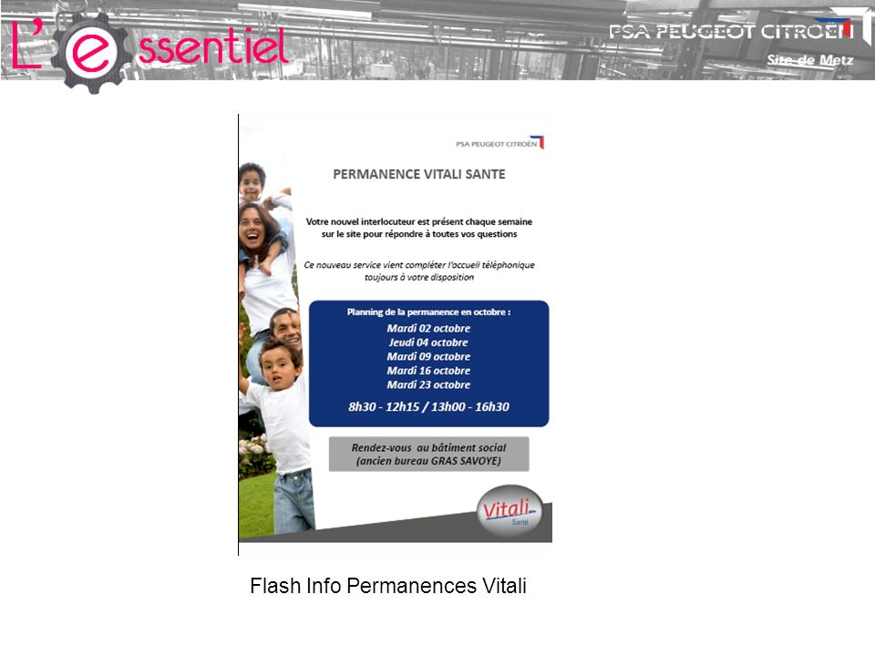 Flash Info Permanences Vitali