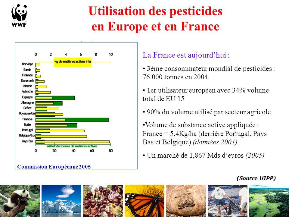 La contamination par les pesticides Un long processus permanent qui touche tous les compartiments de lenvironnement (cycle de leau) 25 à 70 % Présence de pesticides : 96 % des échantillons en cours deau 61 % des échantillons en eaux souterraines