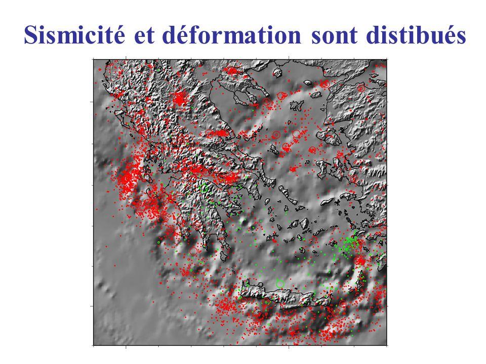 Sismicité et déformation sont distibués
