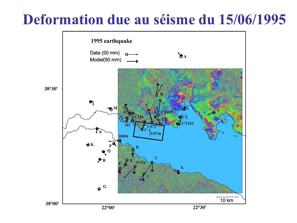 Deformation due au séisme du 15/06/1995