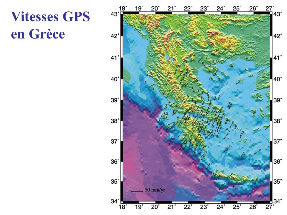 Vitesses GPS en Grèce