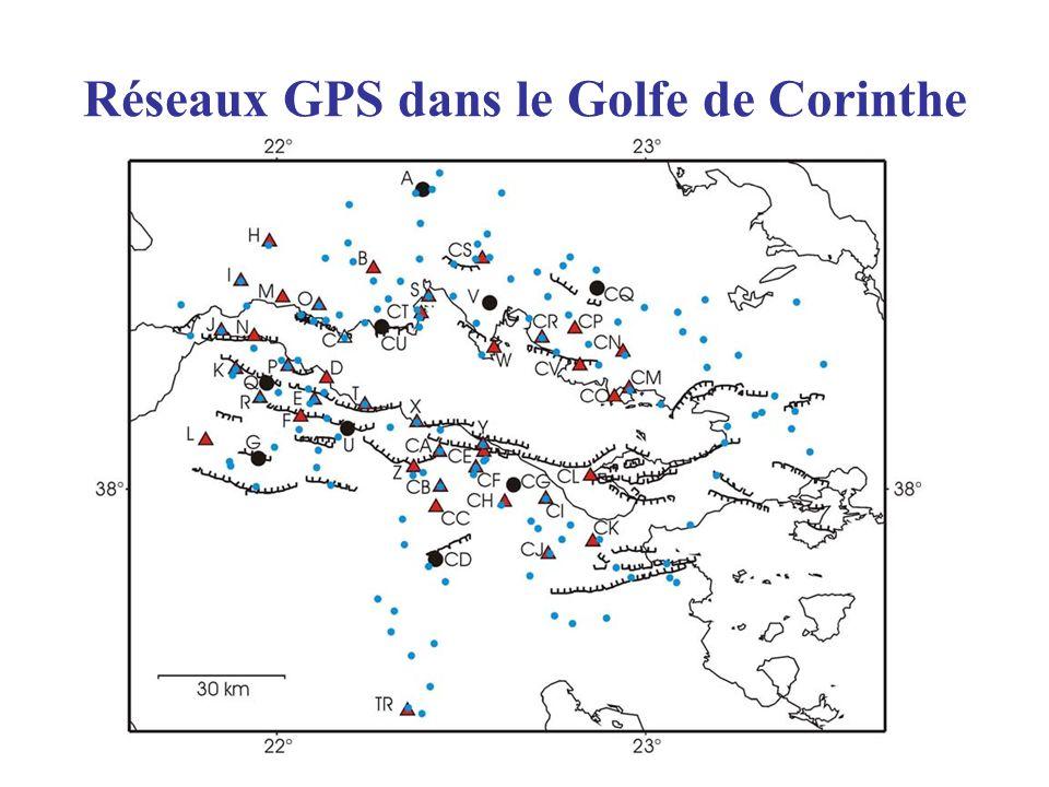 Réseaux GPS dans le Golfe de Corinthe
