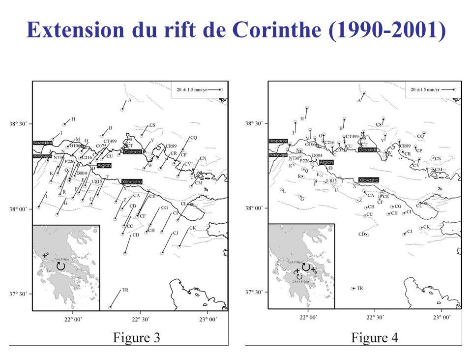 Extension du rift de Corinthe (1990-2001)