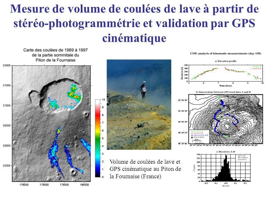 Mesure de volume de coulées de lave à partir de stéréo-photogrammétrie et validation par GPS cinématique Volume de coulées de lave et GPS cinématique
