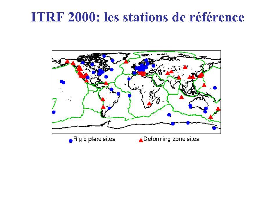 ITRF 2000: les stations de référence