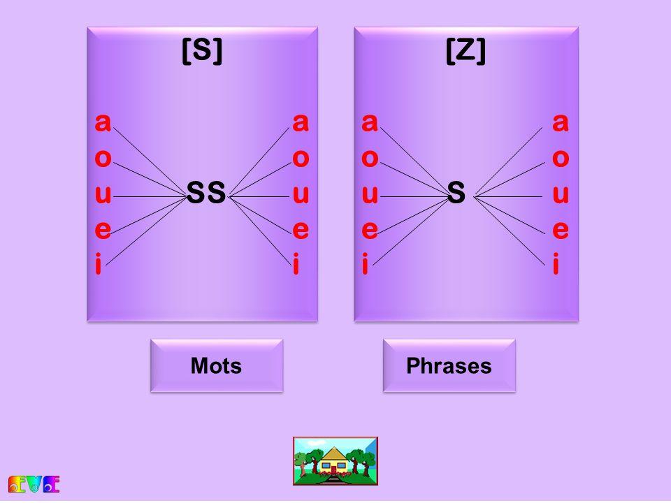 s [S]ao uSSuei [S]ao uSSuei [Z]ao u Suei [Z]ao u Suei Mots Phrases