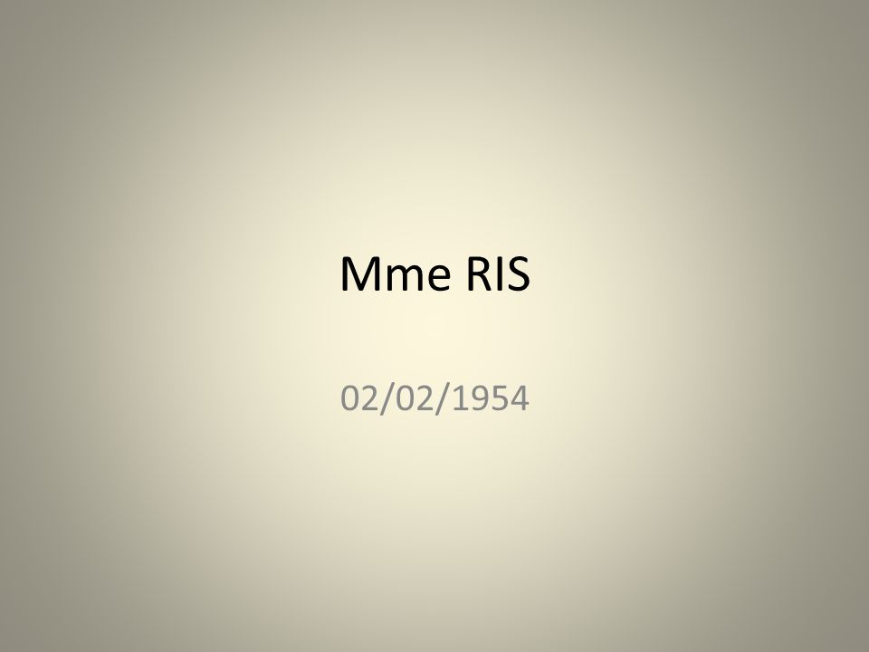 Mme RIS 02/02/1954