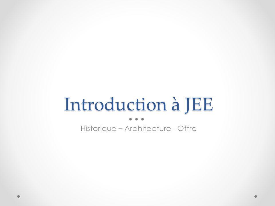Introduction à JEE Historique – Architecture - Offre