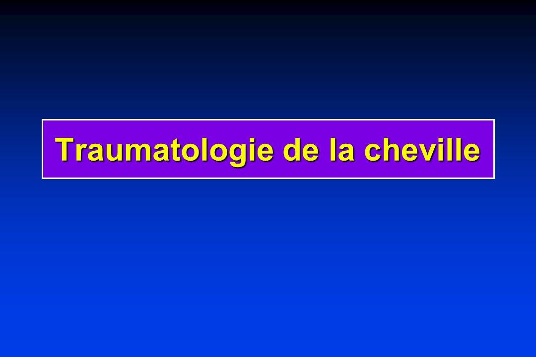 Traumatologie de la cheville
