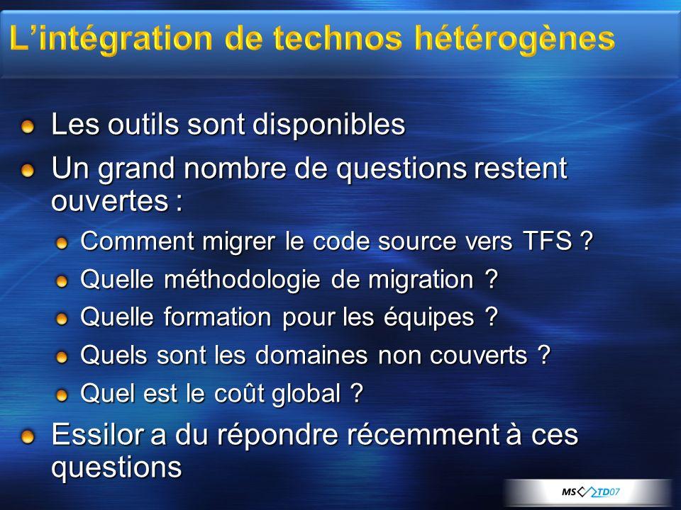 Les outils sont disponibles Un grand nombre de questions restent ouvertes : Comment migrer le code source vers TFS .