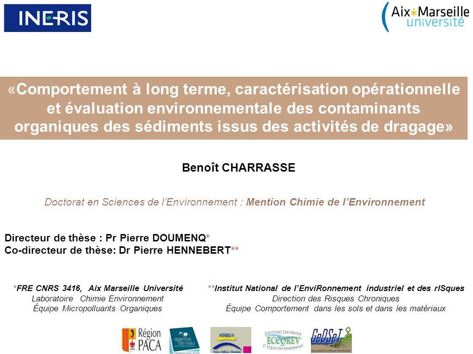 de dragage» «Comportement à long terme, caractérisation opérationnelle et évaluation environnementale des contaminants organiques des sédiments issus