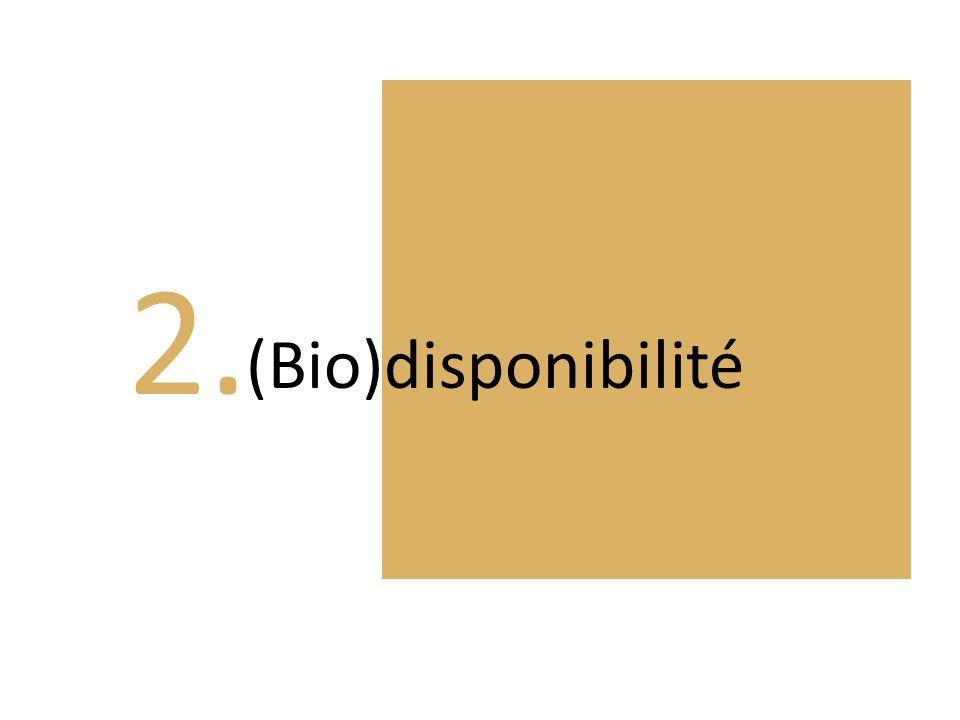 2. (Bio)disponibilité
