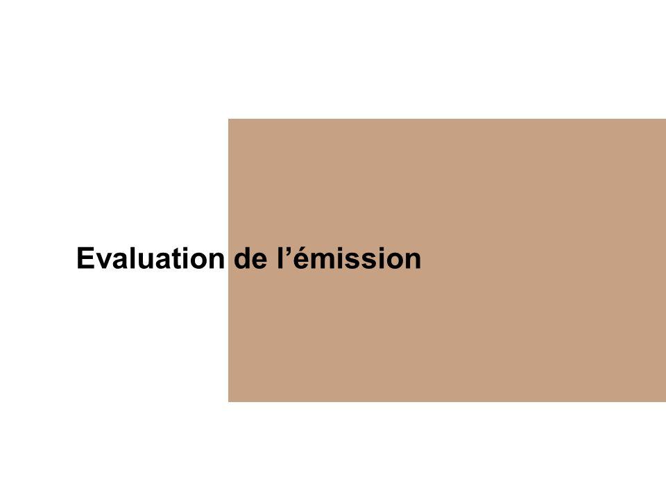 Evaluation de lémission