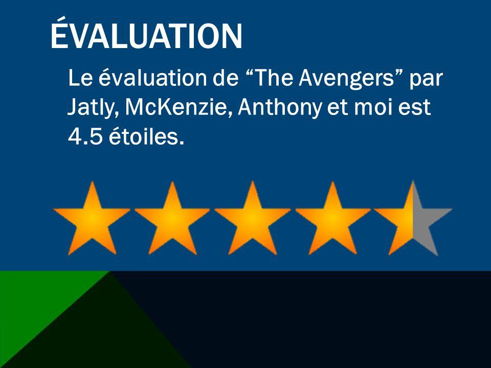 ÉVALUATION Le évaluation de The Avengers par Jatly, McKenzie, Anthony et moi est 4.5 étoiles.