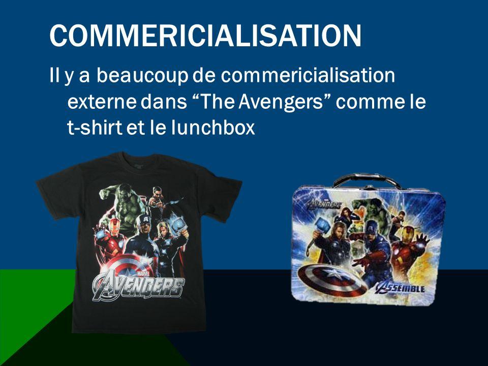 COMMERICIALISATION Il y a beaucoup de commericialisation externe dans The Avengers comme le t-shirt et le lunchbox