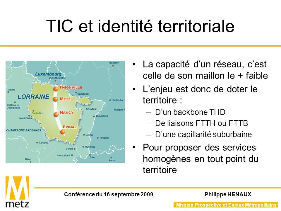 Mission Prospective et Enjeux Métropolitains Conférence du 16 septembre 2009 Philippe HENAUX Réseau de villes et villes en réseaux Le projet IOT@: –Interconnecter les universités du territoire –Opérer le réseau transfrontalier Budget : 2,5 M