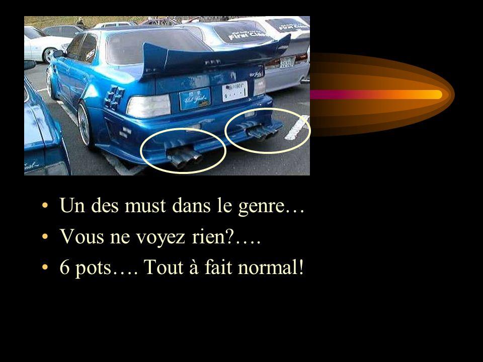 Un des must dans le genre… Vous ne voyez rien …. 6 pots…. Tout à fait normal!
