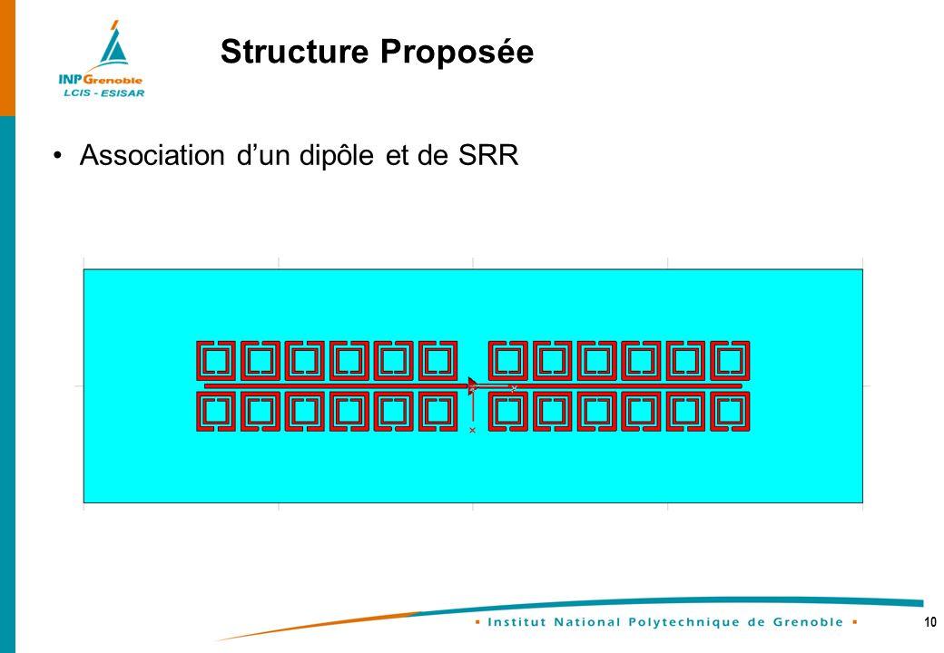 10 Association dun dipôle et de SRR Structure Proposée