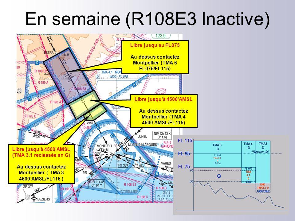 Libre jusquà 4500AMSL (TMA 3.1 reclassée en G) Au dessus contactez Montpellier ( TMA 3 4500AMSL/FL115 ) Libre jusquà 4500AMSL Au dessus contactez Mont