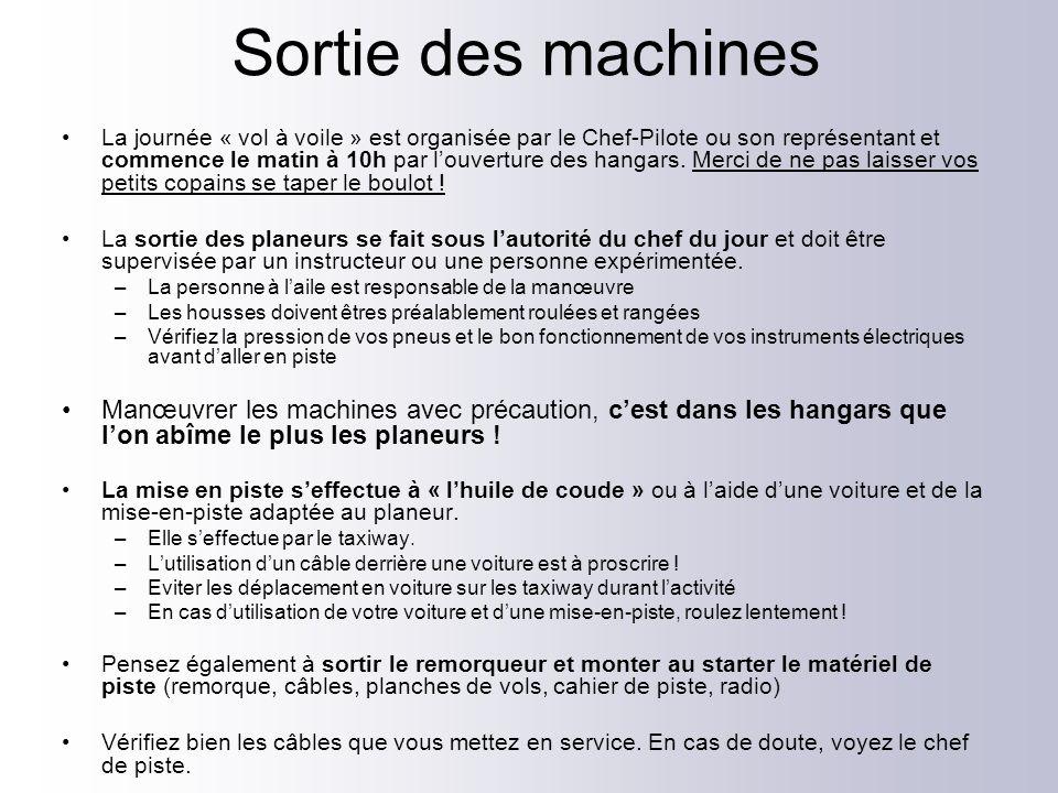 Rentrée des machines Dégagez en priorité les machines posées !.